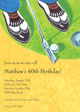 Gentlemen Playing Golf Invitations