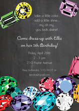 Jewelry Jemstone Hobbies Invitation