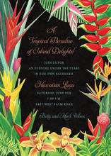 Summer Tropical Floral Invitations