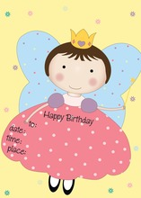 Fairy Kids Fill-in Birthday Invitations