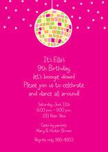Girly Disco Ball Party Invitation