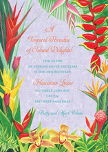 Hawaiian Tropical Party Invitations