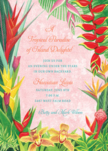 Pink Tropical Destination Invitations