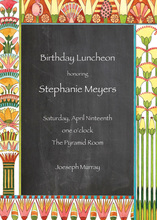 Egyptian Chalkboard Invitations