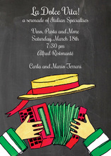 Accordion Music Instrument Invitations