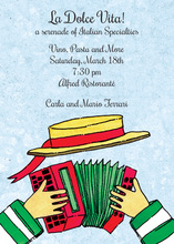 Italian Accordion Music Invitations