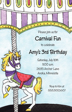 Play Land Carousel Color Invitations