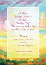 Picturesque Sunrise Sunset Invitation