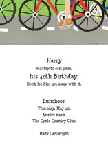 Bicycle In Fast Lane Invitation