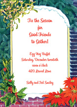 Romantic Christmas Window Invitation
