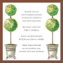 Garden Centerpiece Topiaries Square Invitation