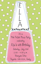 Nail Polish Die-cut Invitations