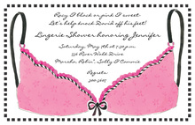 Classy Pink Lingerie Invitation
