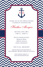 Sailing Into Marriage Anchor Nautical Wedding Invites
