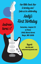 Electric Modern Guitar Invitations