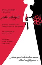 Noveau Jour Crimson Lovely Bride Invitations