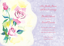 Watercolor Pink Rose Invitations