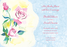 Classic Pink Rose Invitations