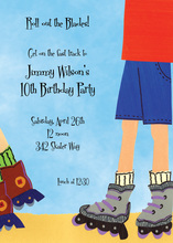 Outdoor Roller Blade Invitations