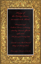 Detailed Golden Frame Invitations