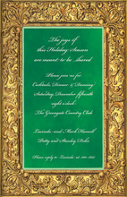 Classic Golden Frame Invitations