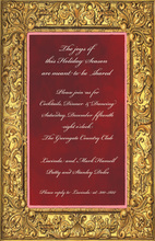 Holiday Golden Frame Invitations