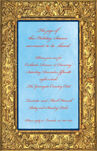 Golden Frame Border Invitations