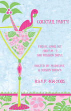 Spring Flamingo Cocktails Invitation