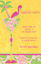 Silhouette Flamingo Invitations
