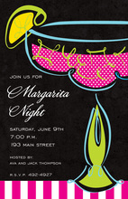 Swirl Margarita Fiesta Invitations