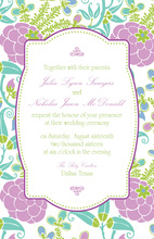 Whimsical Lotus Invitations