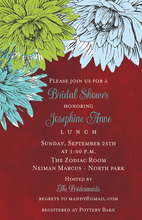 Modern Floral Painted Invitations