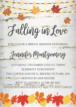 Festive Fall Leaves Lights Invitation