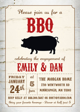 Translucent Wood BBQ Invitations