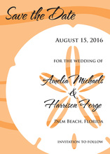 Orange Sand Dollar Invitations
