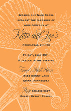 Orange Seahorse Wedding Invitations