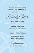 Blue Seahorse Wedding Invitations
