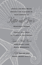 Grey Seahorse Wedding Invitations