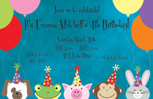 Smile Peeking Invitations