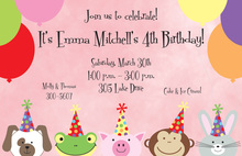 Laughing Animals Invitation