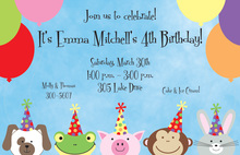 Happy Animals Invitation