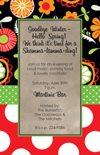 Mixed Abstract Floral Invitations