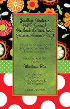 Mixed Modern Floral Invitations