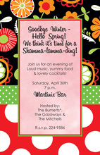 Garden Whimsy Floral Invitations