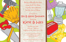 His Hers Tools Shower Invitations