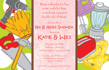 Classy His Her Tools Invitation