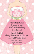 Pink Birthday Cake Invitations