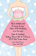 Dress-Up Girl Cake Invitations