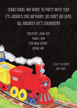 Happy Red Choo Choo Train Invitations