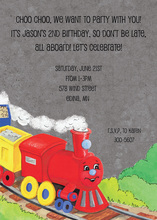 Red Choo Choo Train Birthday Invite